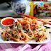Shirataki Spaghetti Stir-fry with Shrimp