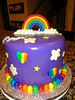 padicakes My Little Pony Rainbow Cake