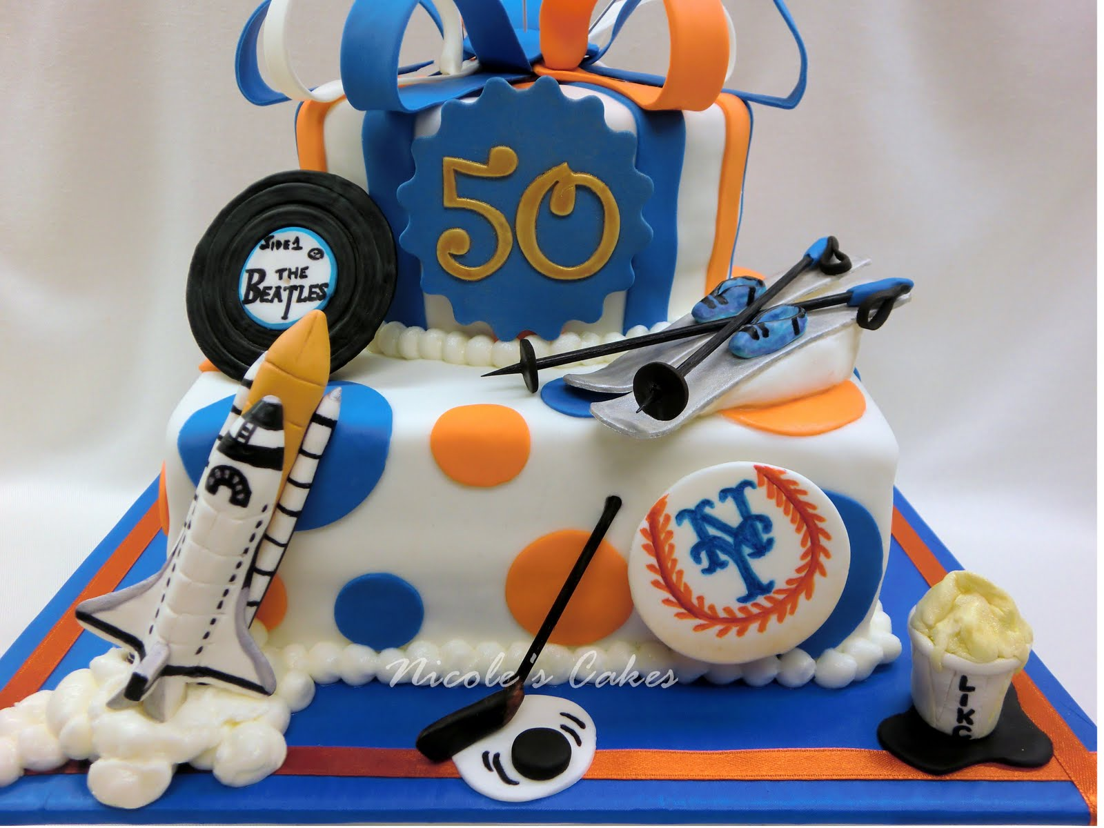 On Birthday Cakes METS Themed 50th Tribute