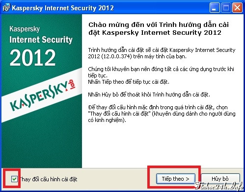Min ph bn quyn 1 nm Kaspersky Internet Security 2012