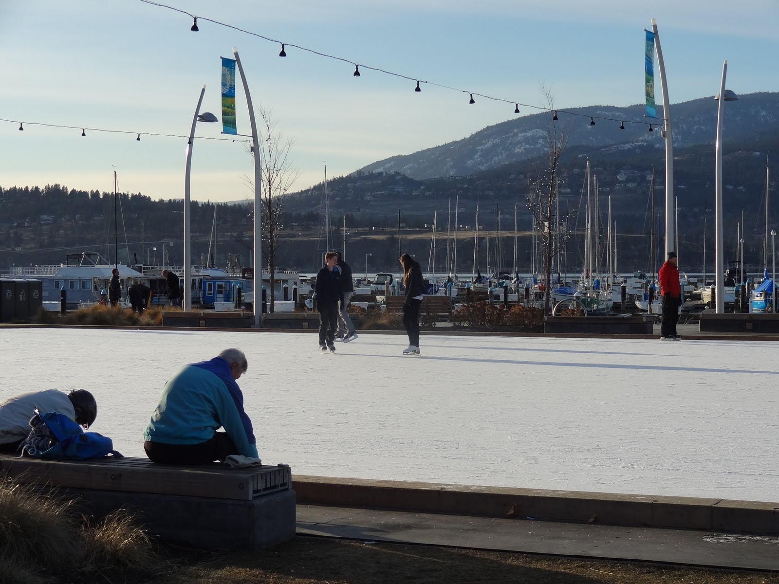 more kids than suitcases skate less at kelowna u0027s outdoor rink