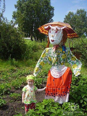 Чучело на огород для детского сада