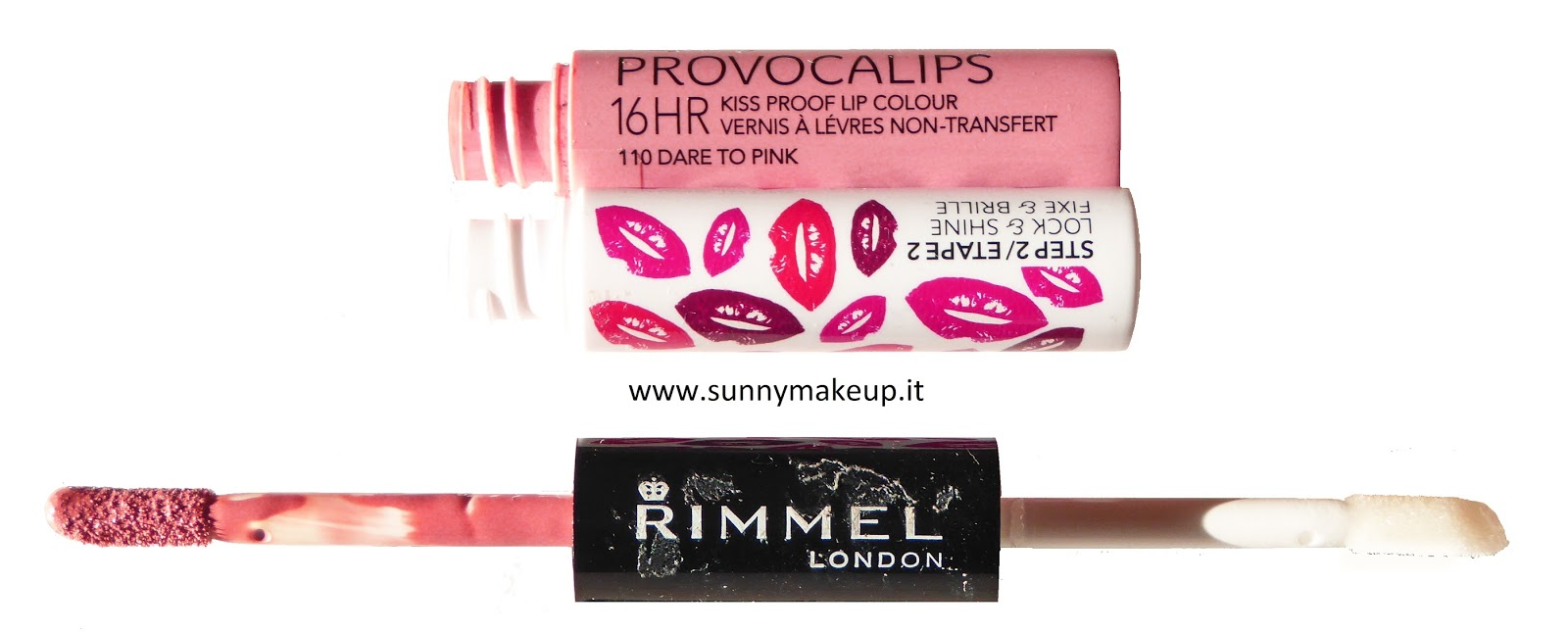 Rimmel London - Provocalips: Swatch e review del rossetto liquido effetto lacca 110 Dare to Pink