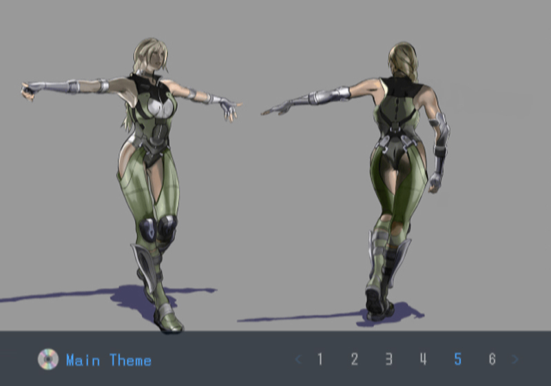 Death by Degrees Nina Williams Costume Illustration