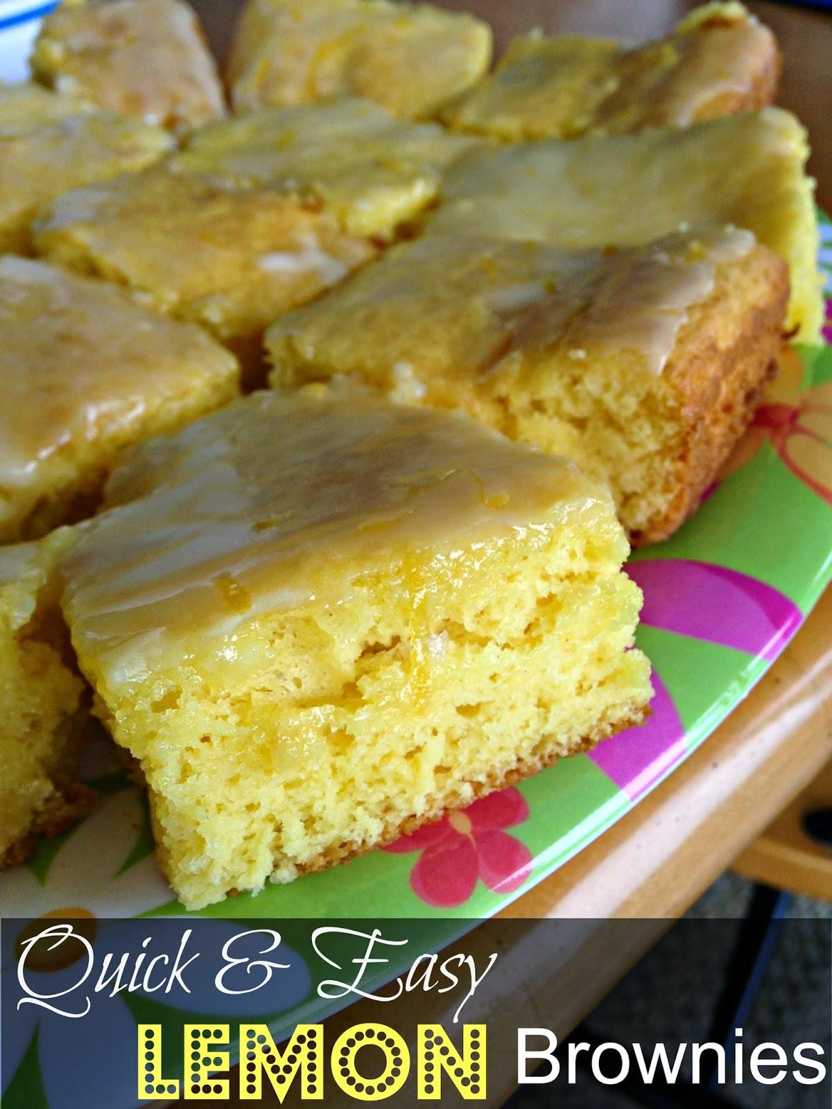 Quick And Easy Lemon Brownies 3 Ingredients