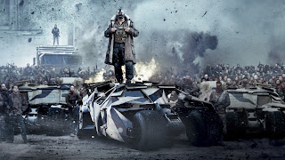 Bane on Batmobile Dark Knight Rises Movie 2012 HD Wallpaper