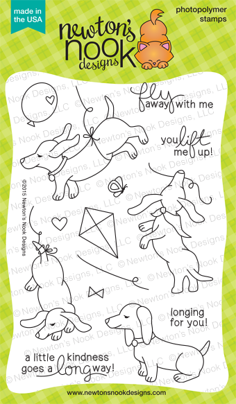 Delightful Doxies - 4 x 6 Photopolymer Dachshund stamp set by Newton's Nook Designs