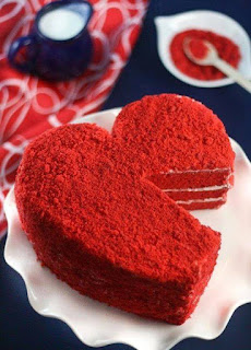 Valentine Day Love Red Cakes