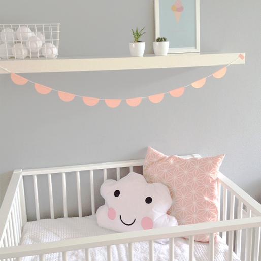 Mijnhuisstijlenik de kamer van baby girl plat - Gordijn voor baby kamer ...