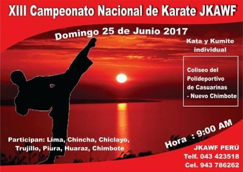 XIII CAMPEONATO NACIONAL DE KARATE  JKAWF  Chimbote-Perù