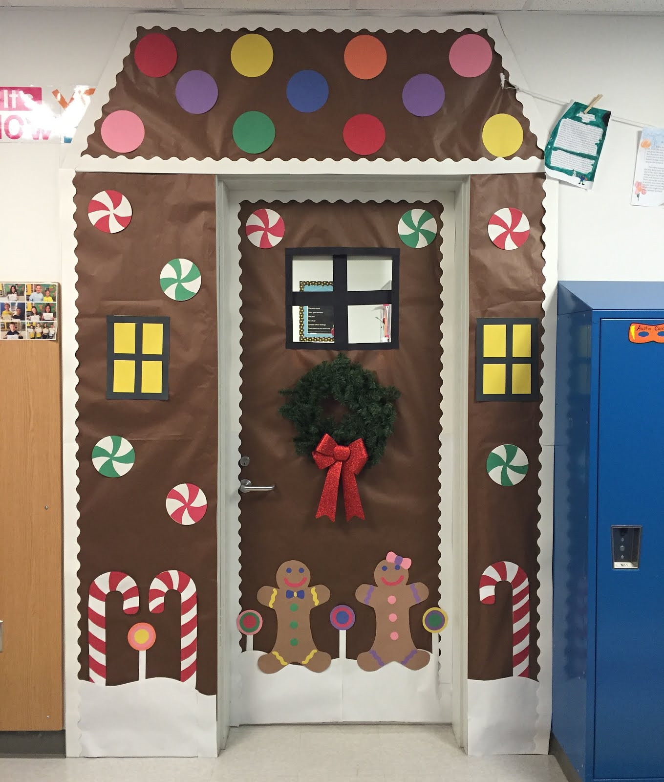 Here is my Gingerbread themed door! & Creative Elementary School Counselor: Winter Door Decorations!