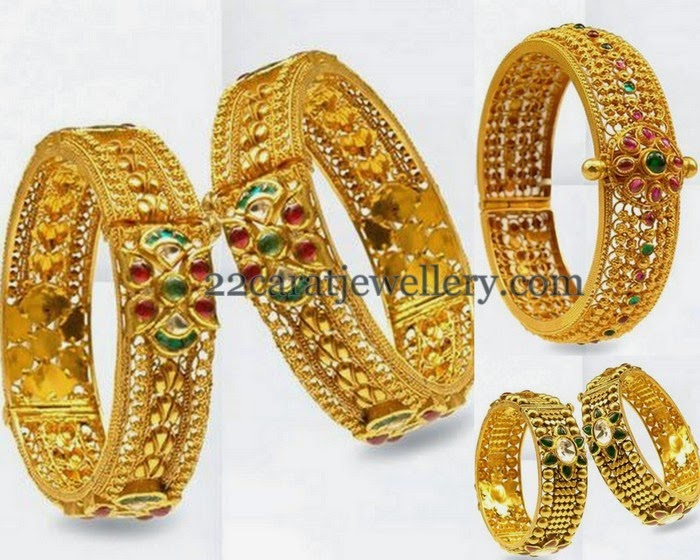 Antique Broad Bangles in Gold