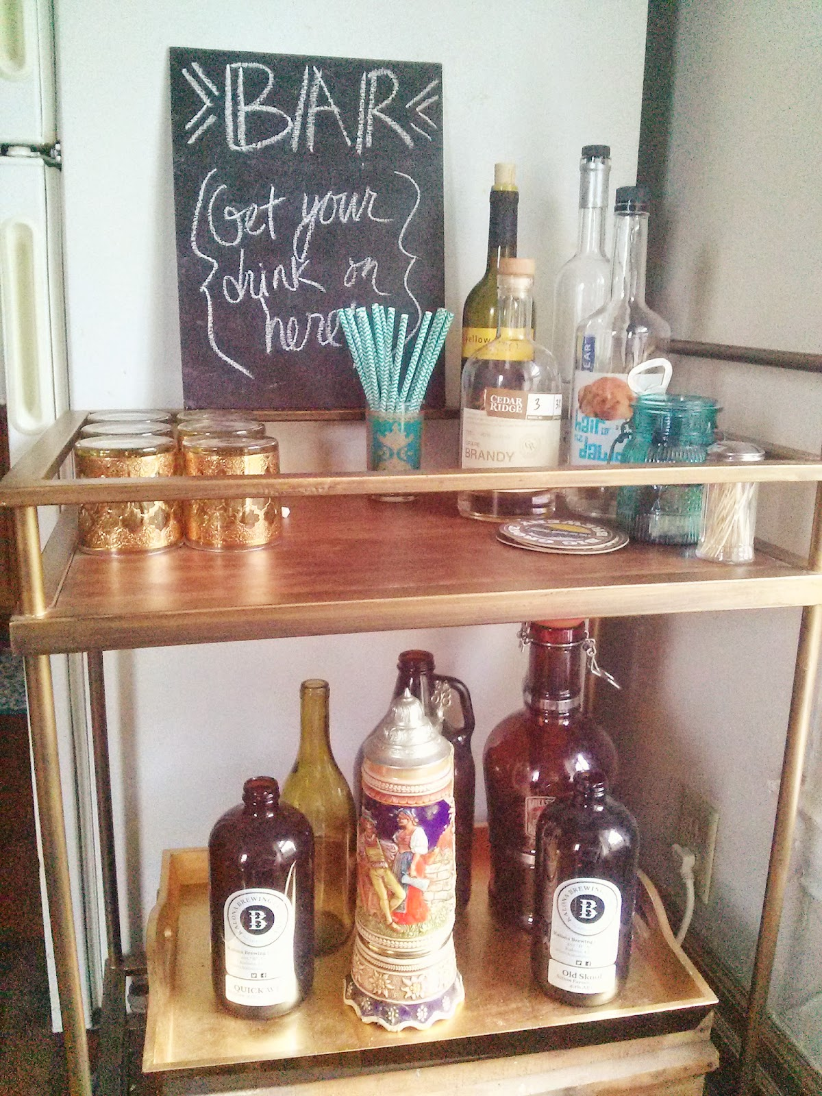 The Lovely Side 1 Mini Makeover Fridge And Bar Cart