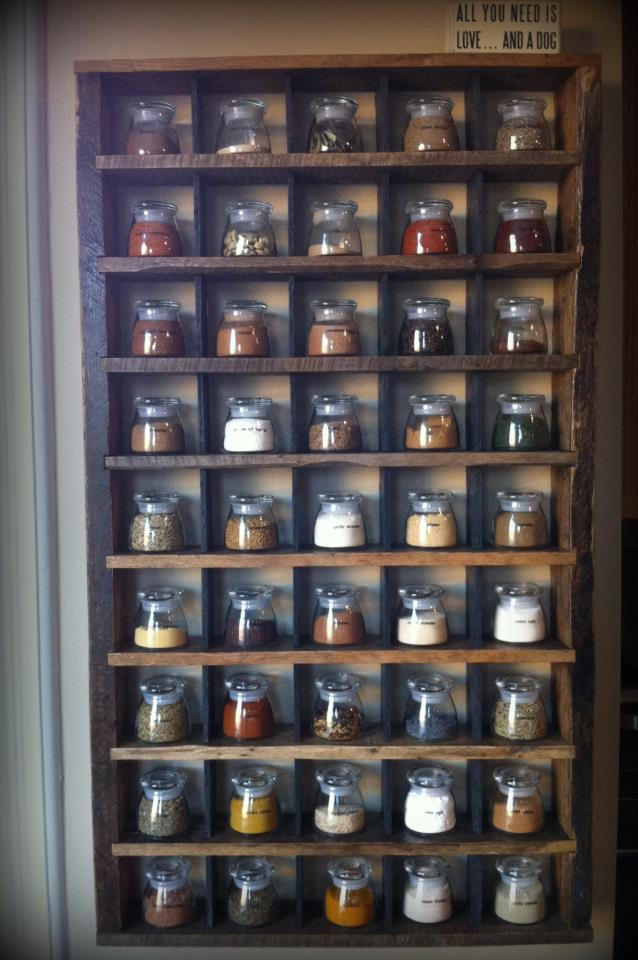 Pallet And Reclaimed Wood Spice Rack WILO Design Farm