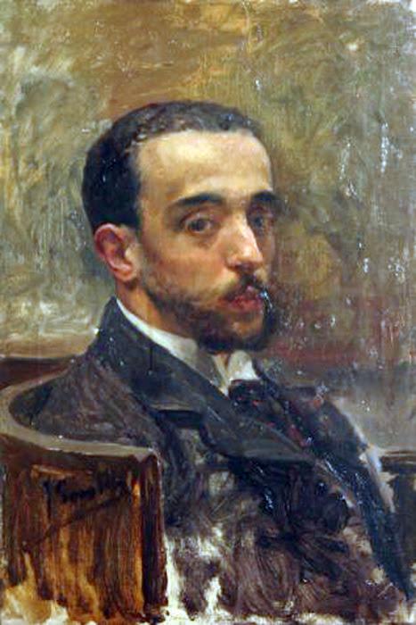 Retrato del poeta Joan José Maria Herrero, Joaquín sorolla, Pintor español, retratos de Joaquín Sorolla