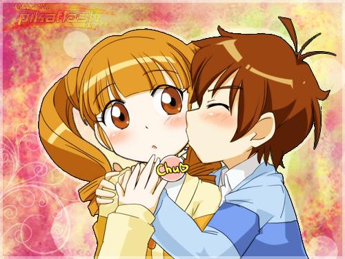 Un dibujo de amor anime - Imagui