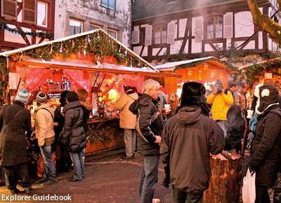 Christmas market in eguisheim