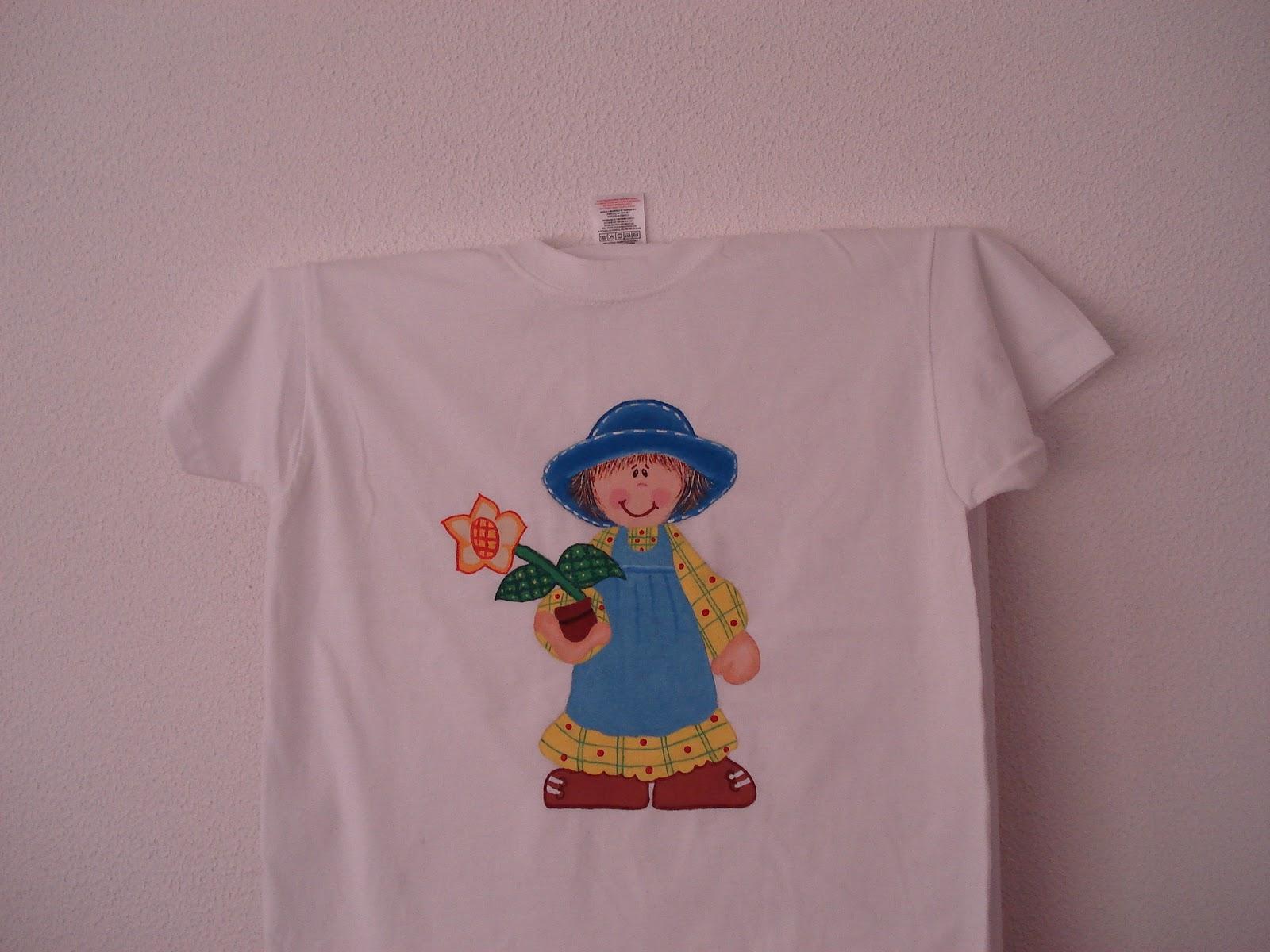 LaMochiladeMariemma: Franelas pintadas a mano para niñas