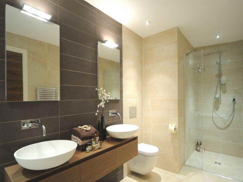 27 banheiros decorados  grandes e pequenos Confira!  Decor Alternativa -> Banheiros Claros Decorados