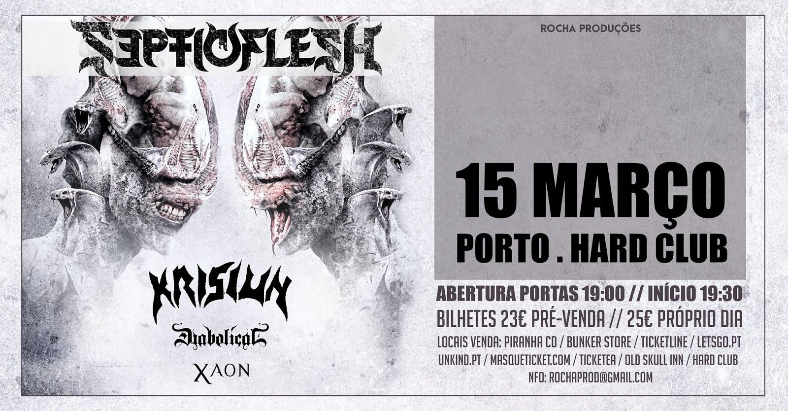Septicflesh + Krisiun + Diabolical + Xaon @ Hard Club