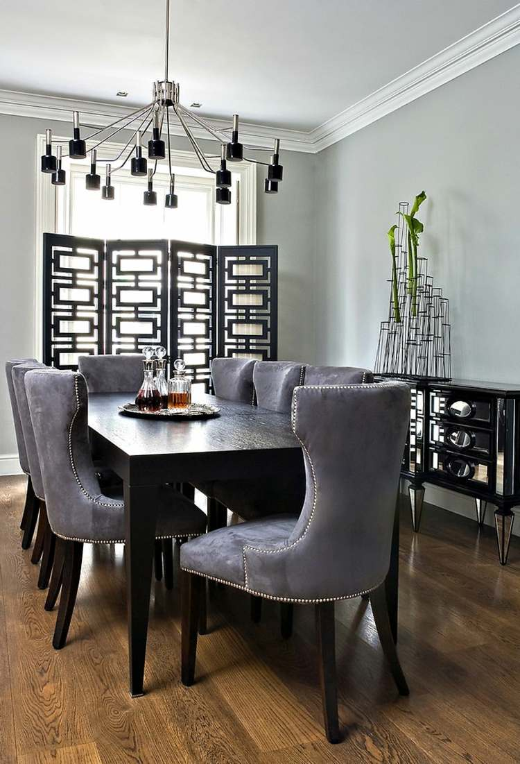 Suede Dining Room Chairs Modern Design Ideas Dark Dining Room Home Design Ideas 2016