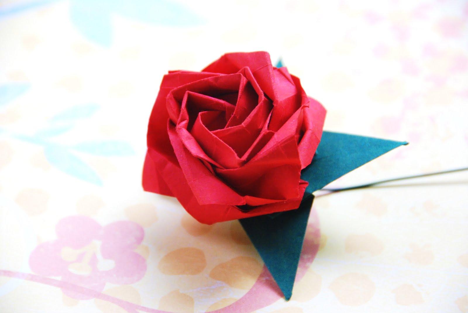 New Origami Kawasaki Rose