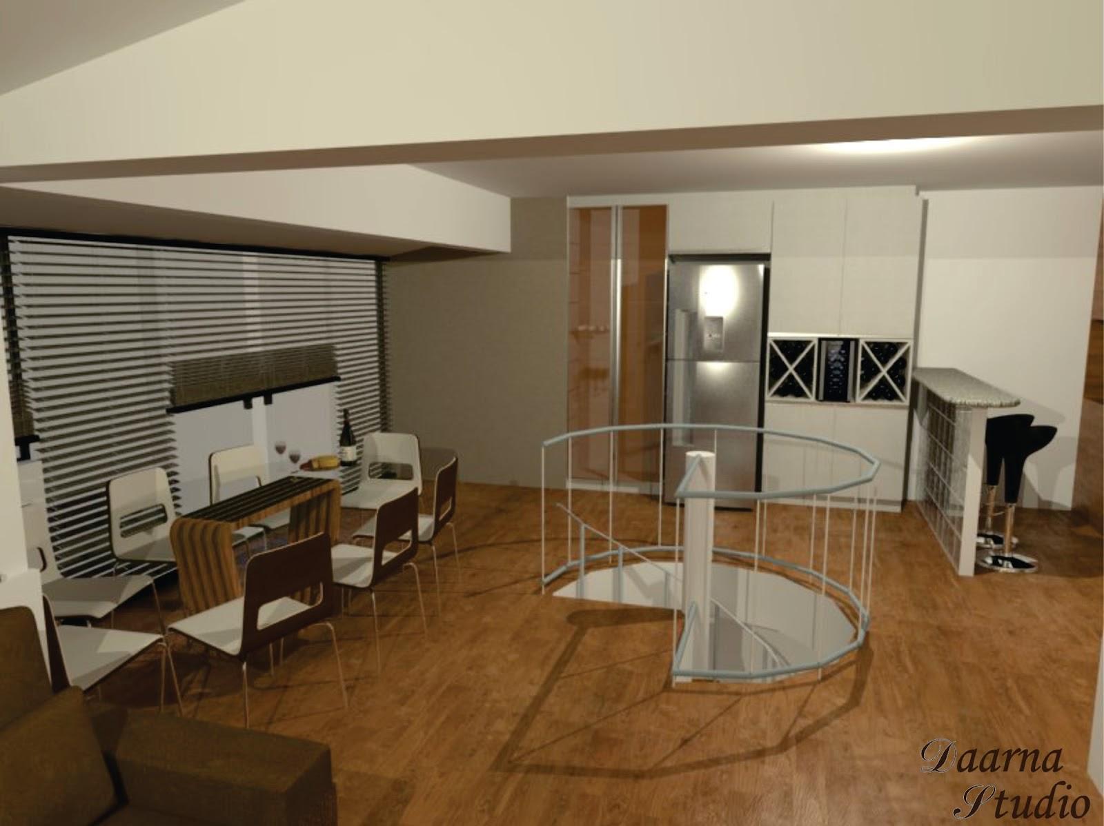 Daarna Arquitetura & Interiores: Projeto de Reforma Cozinha #6C4924 1600 1198