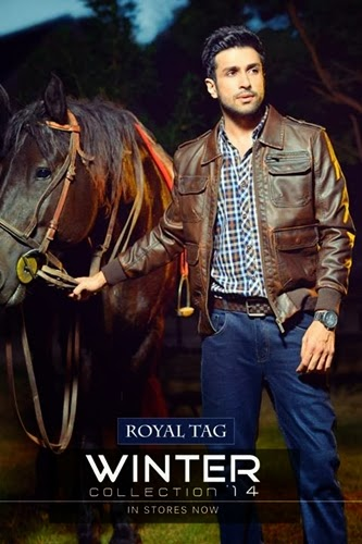 Royal Tag leather Jacket