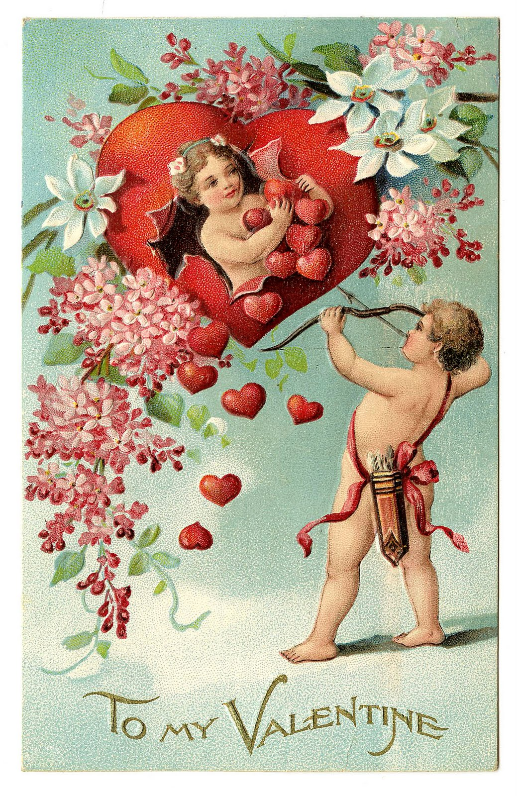 Leaping Frog Designs To My Valentine Vintage Free Post