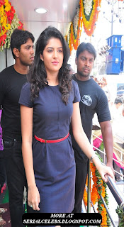 Deeksha Seth in blue short dress