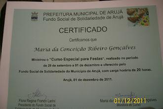 Diploma do Curso de Culinária
