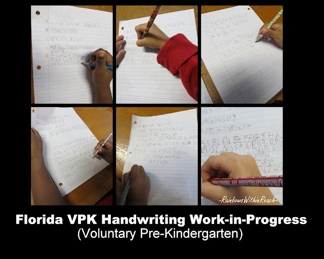 photo of: Preschool Handwriting Practice, pencil grip for young child, VPK, preschool, Head Start fine motor
