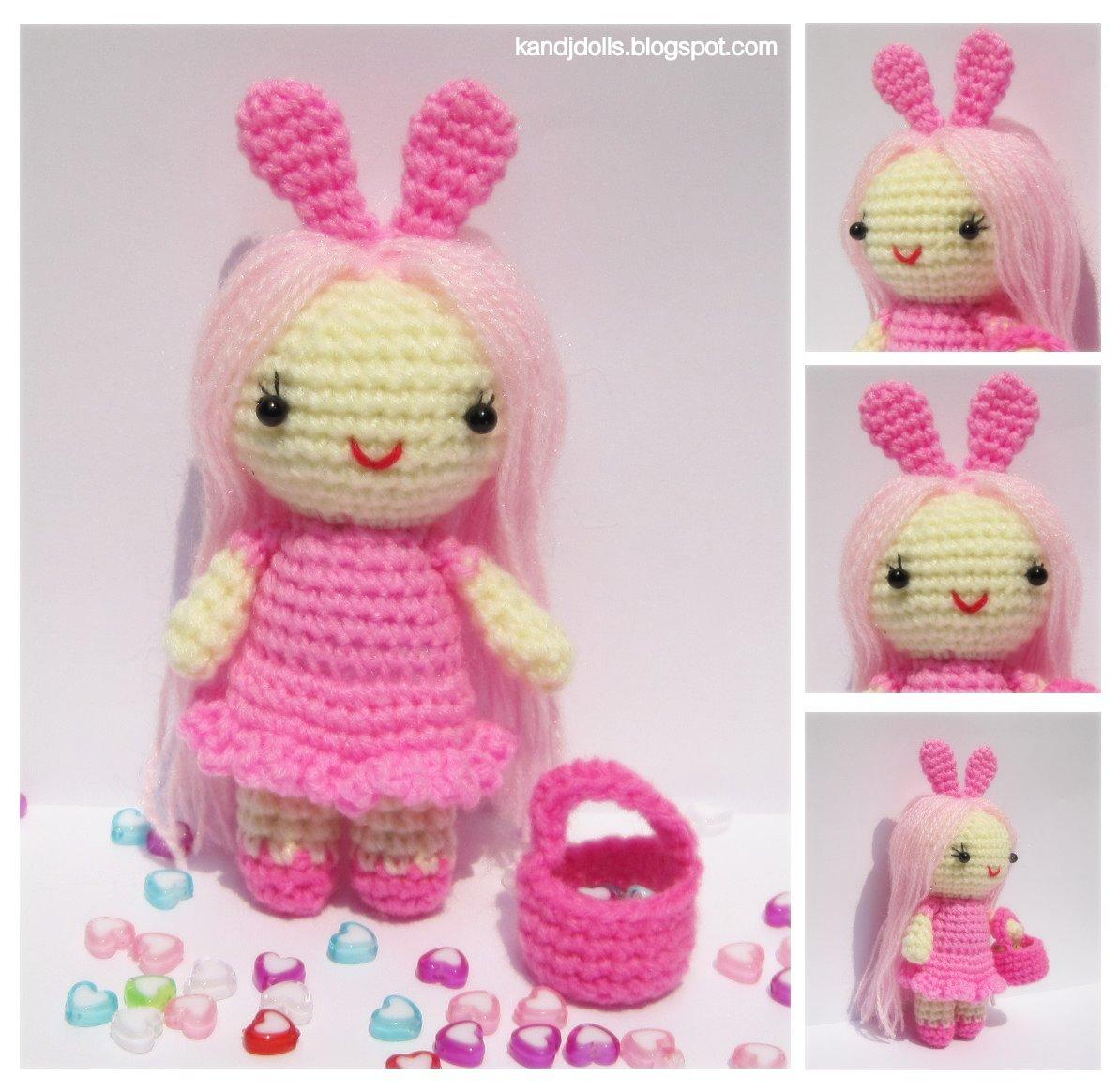 Blog Amigurumi Francais : Petite Dame Rose - Patron d Amigurumi Gratuit - Amigurumi ...