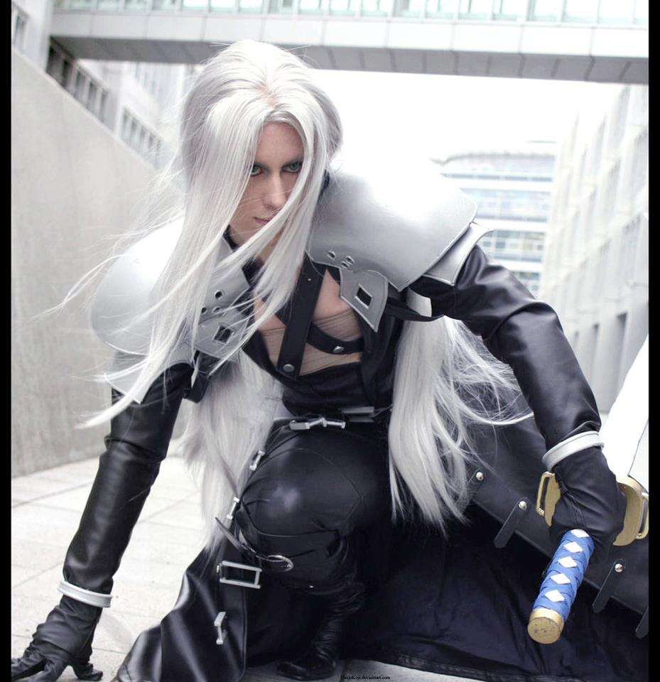 ... sephiroth and the other two clones zack and aerith aerith sephiroth