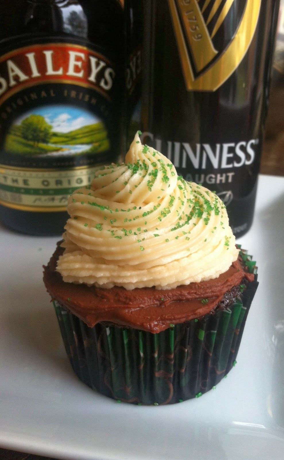 St Patricks Day Irish Car Bomb Cupcakes