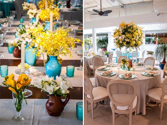 decoracao de casamento azul e amarelo simples : decoracao de casamento azul e amarelo simples:Detalhes de Casamento: Decoração azul tiffany, amarelo e marrom!!