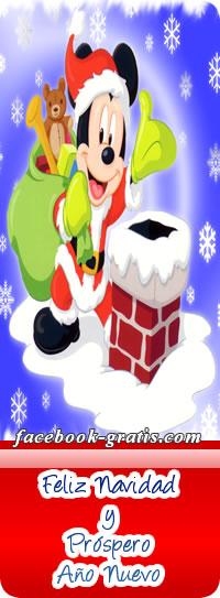 Mickey Mouse de Navidad para perfil