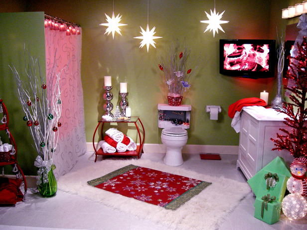 decorate bathroom for christmas home decorating photos