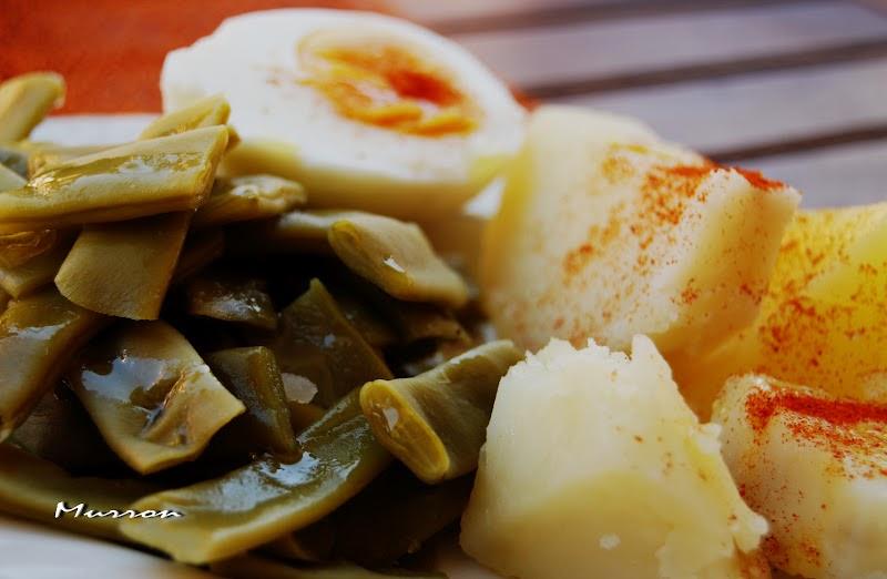 Murron cocina jud as verdes con patata y huevo - Como hacer judias verdes ...