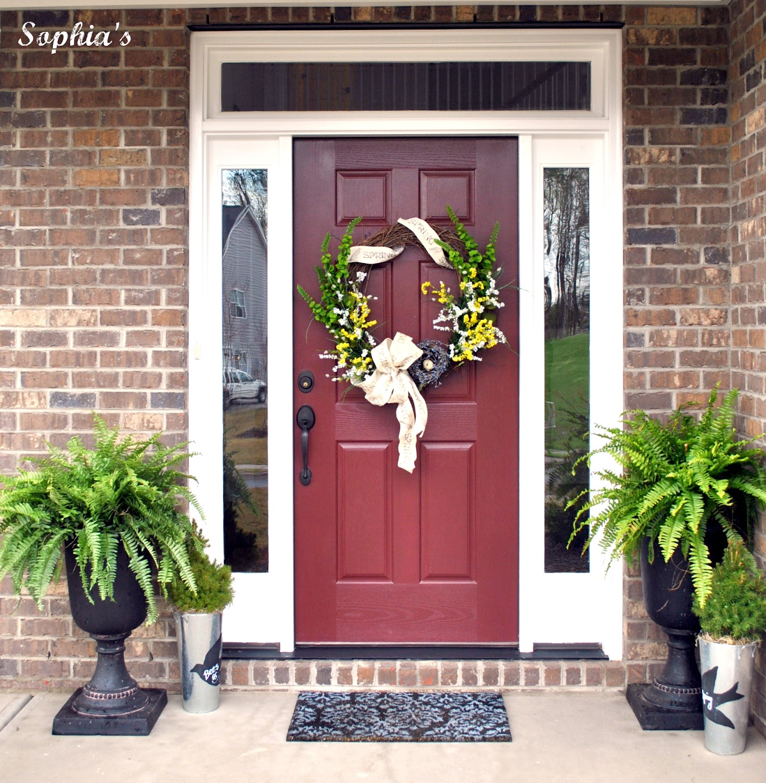 Design and decor spring front porch and wreath project for Front door porch