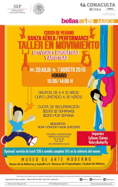 Curso de Verano del Museo de Arte Moderno con actividades acrobáticas y artísticas