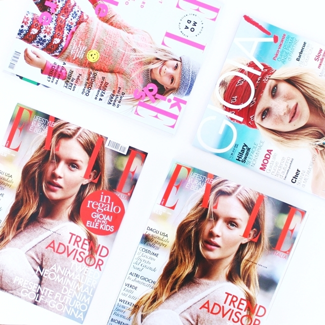 Jelena Zivanovic Instagram @lelazivanovic.Glam fab week.Elle Italy September issue.Elle Italia 2015.