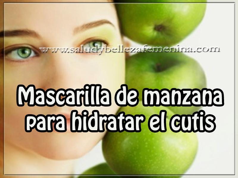 Mascaras faciales , cuidados del rostro , tips de belleza, mascarilla de manzana para hidratar el cutis