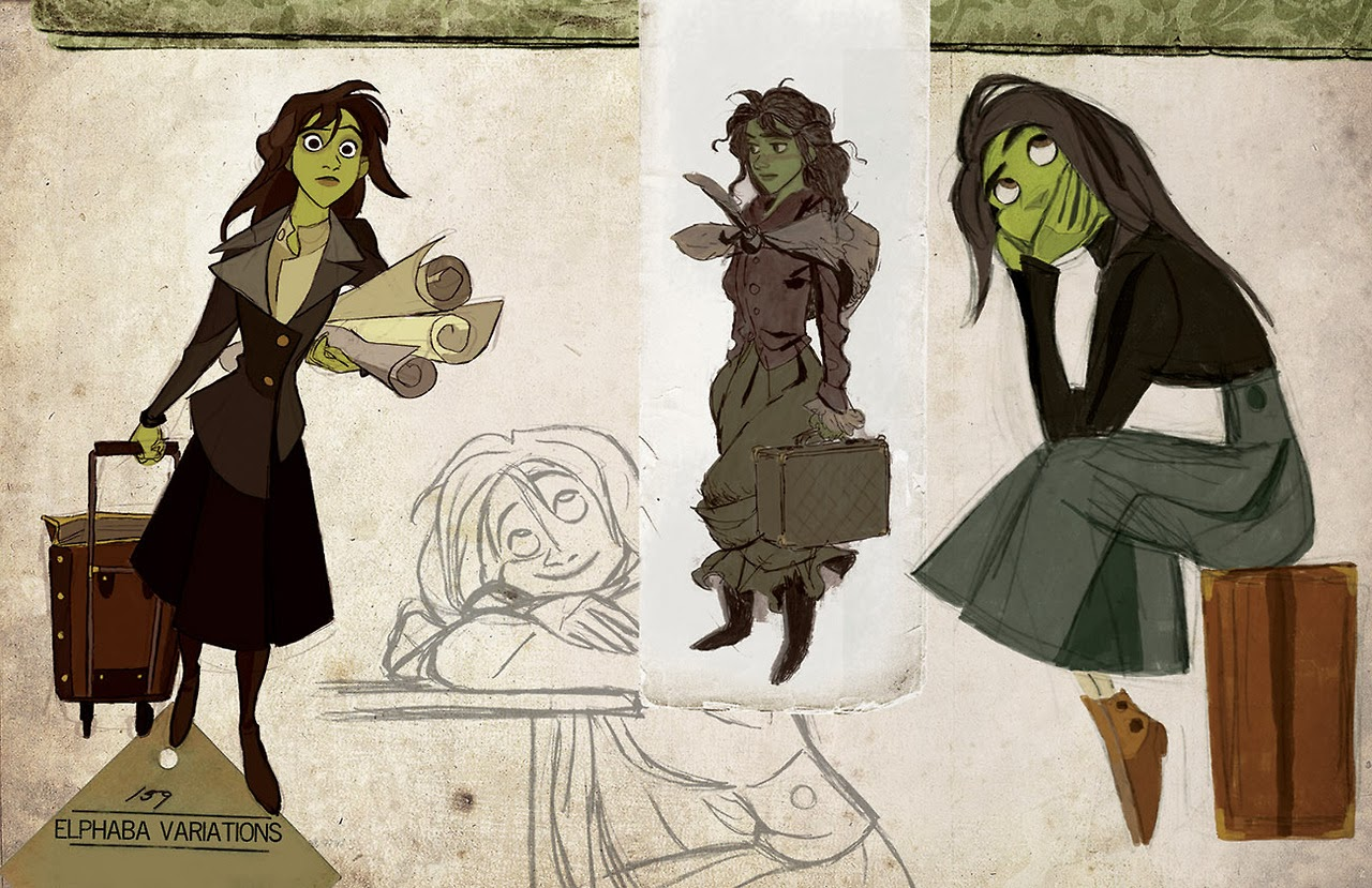 Disney Character Design Artist : Once upon a old animation development art for
