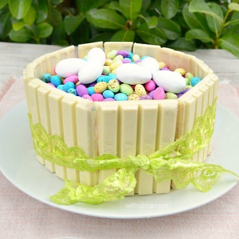 Easter Kit Kat Cake With A Blast