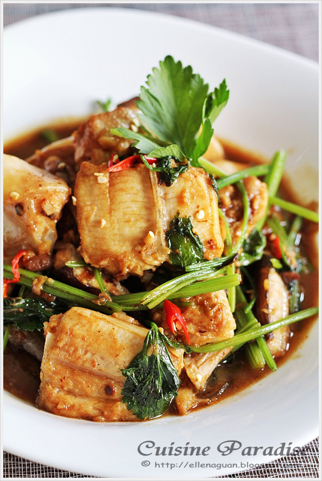 Cuisine paradise singapore food blog recipes reviews and travel stir fried stingray with fermented black bean and chinese celery forumfinder Choice Image