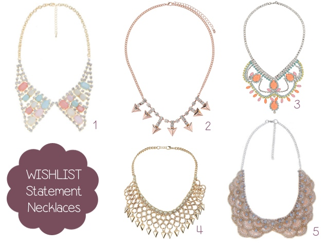 wishlist statement necklaces