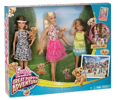 TOYS : JUGUETES  BARBIE y sus hermanas : Perritos en busca del tesoro  Pack 3 Muñecas - dolls | Barbie - Skipper - Stacie  Barbie and Her Sisters in The Great Puppy Adventure  Producto Oficial Película 2015 | Mattel CLV04 | A partir de 3 años  Comprar en Amazon España & Buy Amazon USA