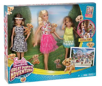 TOYS : JUGUETES  BARBIE y sus hermanas : Perritos en busca del tesoro  Pack 3 Muñecas - dolls | Barbie - Skipper - Stacie  Barbie and Her Sisters in The Great Puppy Adventure  Producto Oficial Película 2015 | Mattel CLV04 | A partir de 3 años  Comprar en Amazon España & Buy Amazon USA