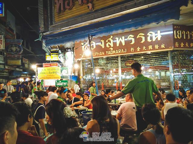 Night portrait captured at Chinatown Bangkok